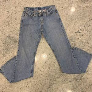 Lucky Brand Dungarees Light Wash Bootcut/Flare
